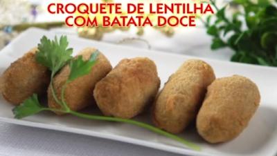 Croquete de Lentilha e Batata Doce