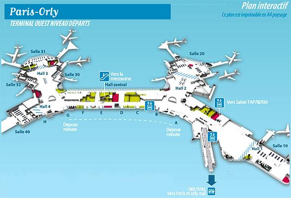 Dicas pr ticas de franc s para brasileiros mapa aeroporto de orly e seus terminais - Comptoir easyjet orly sud ...