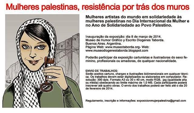Mulheres solidárias com o povo palestino