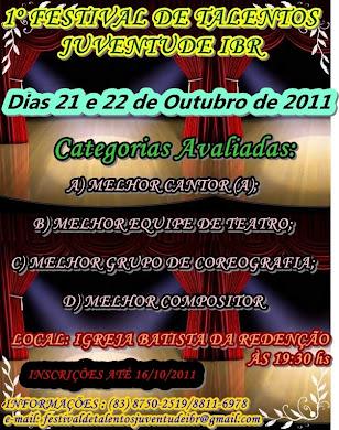 1º Festival de Talentos Juventude IBR