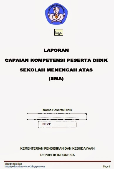 Download Format Raport Kurikulum 2013 Lengkap