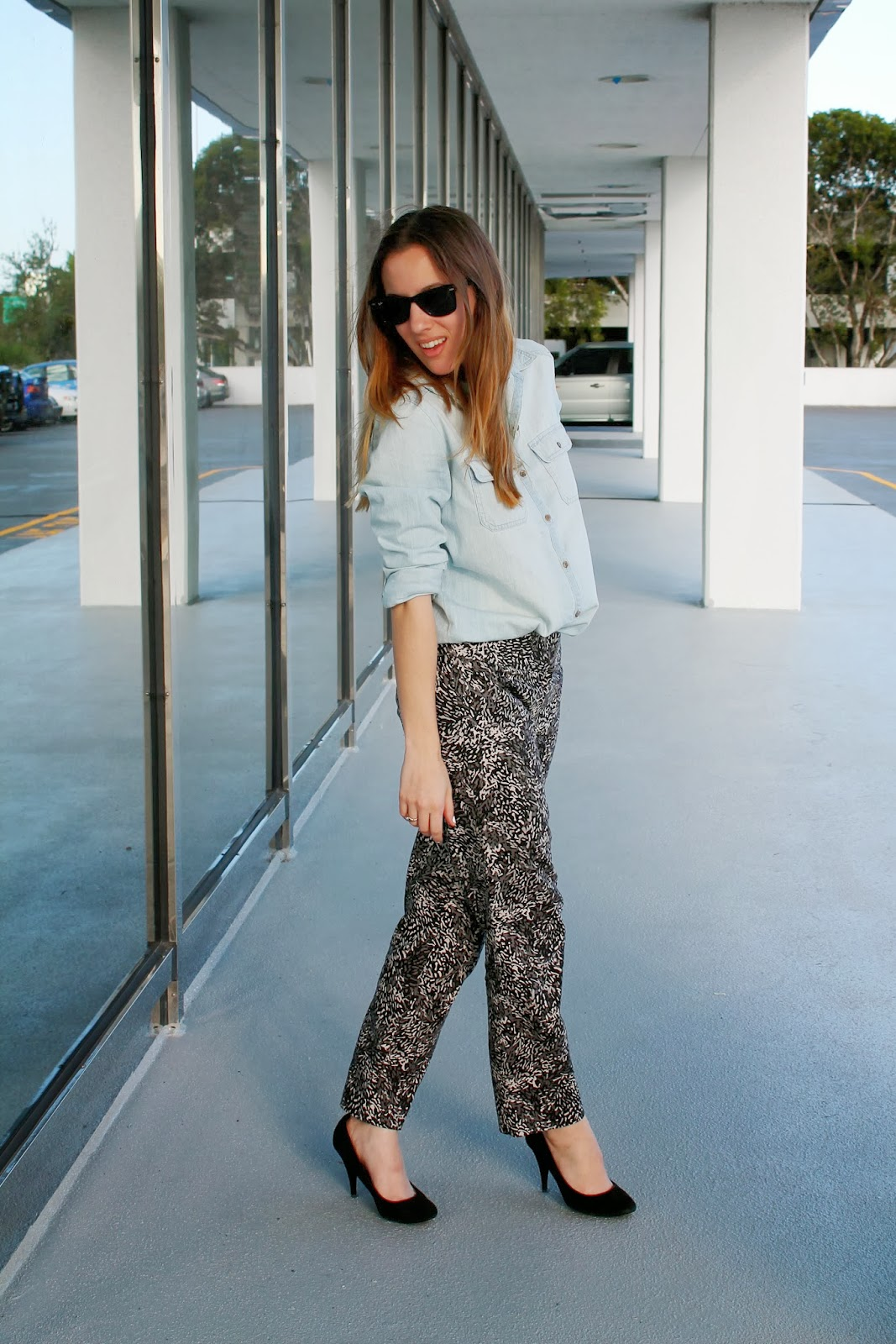 chambray, Nordstrom, LOFT, Steve Madden, BCBGeneration, edgy, preppy, southern, Miami fashion blog, fashion blog, what i wore, ootd