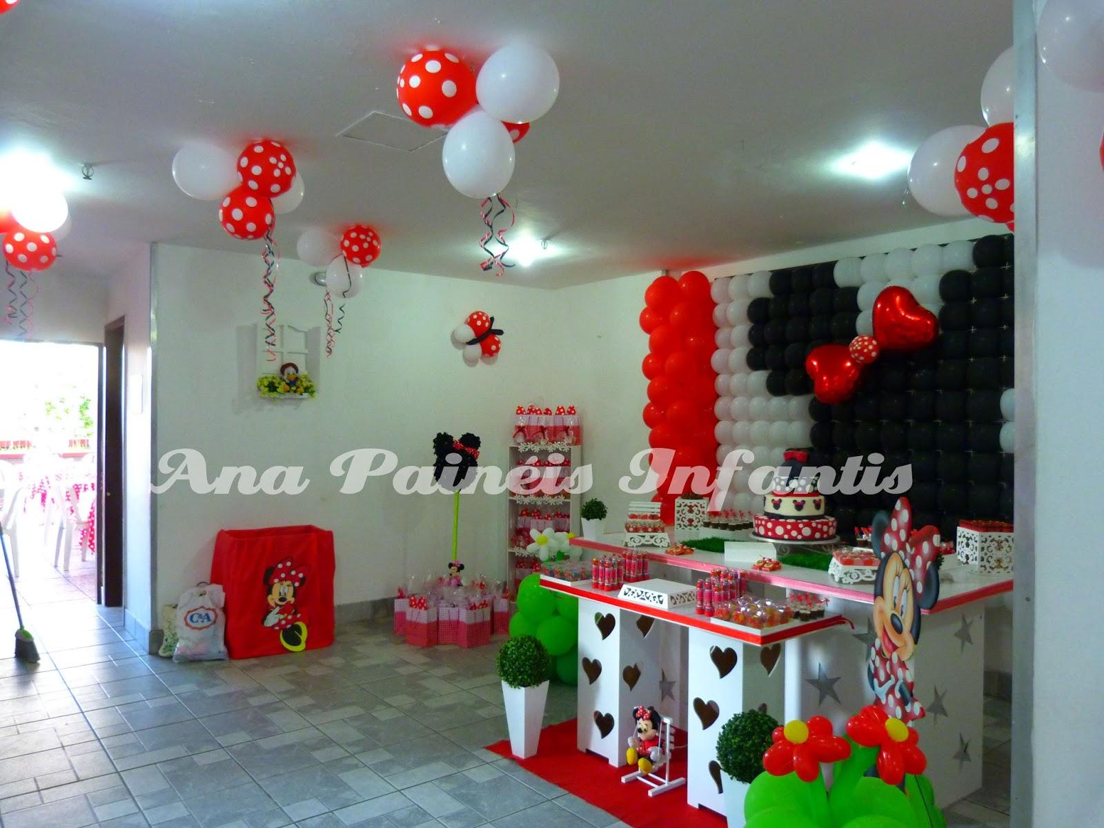Ana Decoração de Bolas Minnie Vermelha