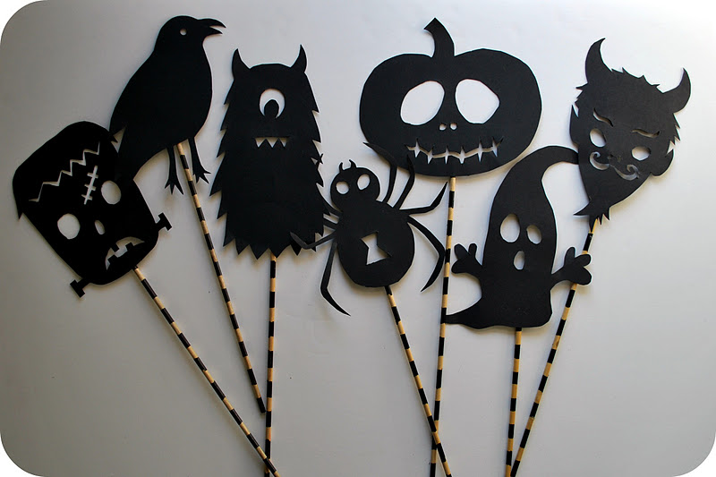 Chez beeper bebe make this halloween shadow puppets for Decoracion de halloween
