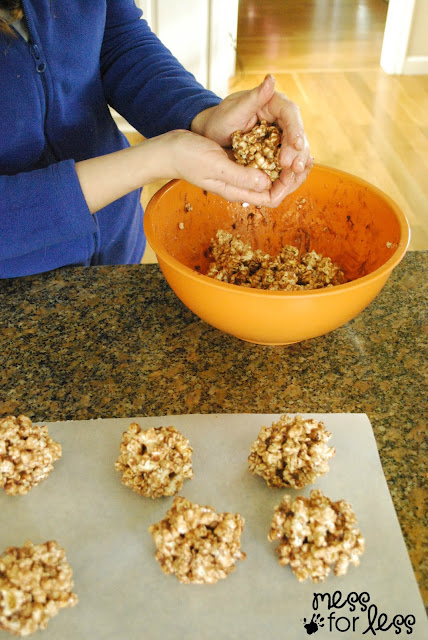 recipe for hot cocoa popcorn balls #shop