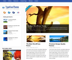 TypeFace WordPress Theme