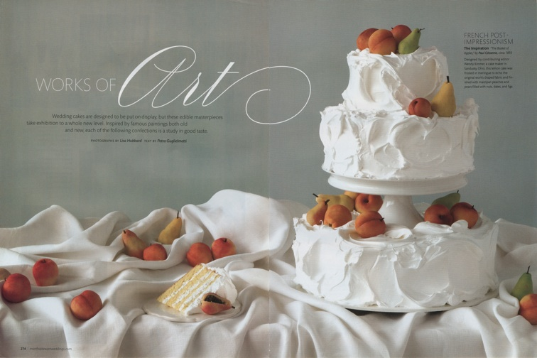 The Terrier And Lobster Works Of Art Art Inspired Wedding Cakes