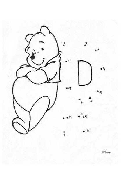 Disney Connect The Dots Coloring Pages
