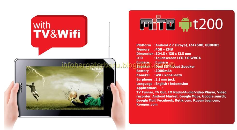 Harga MITO T200 Tablet Spesifikasi 2012