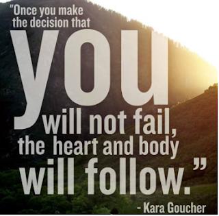 Once you make the decision - Kara Goucher