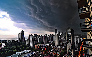 Superb City Storm Clouds HD Wallpaper