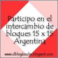 Intercambio bloques 15x15 Argentina