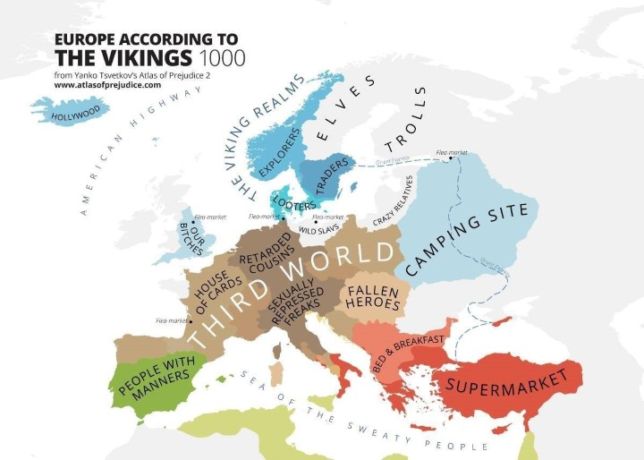 Europe according to the Vikings 1000