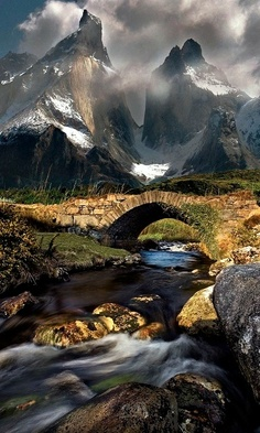 Mountain Stream in Torres del Paine,Chile