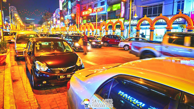 The Little India Brickfields KL is colorful even at night