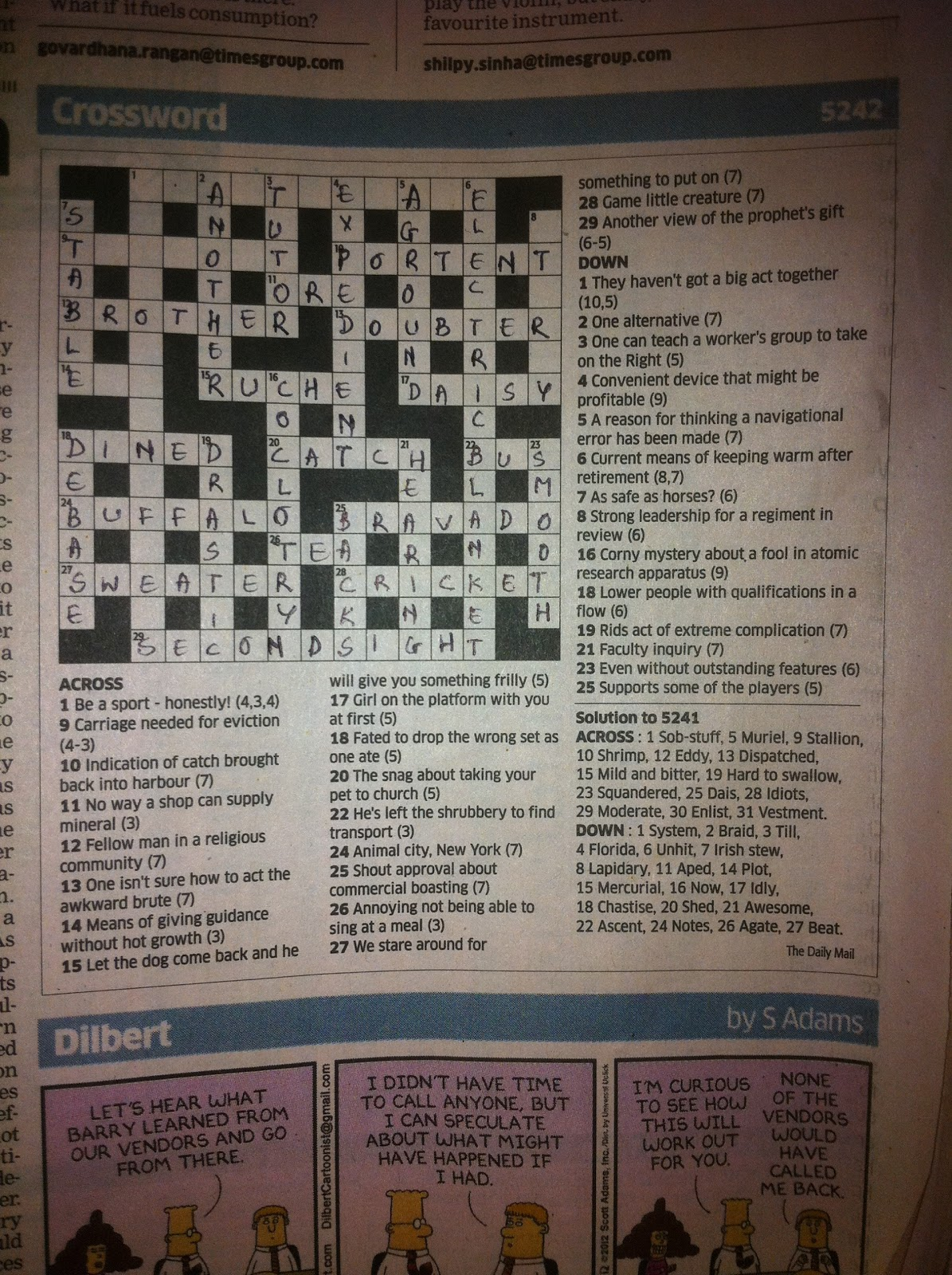Cryptic crosswords for Portent in crossword