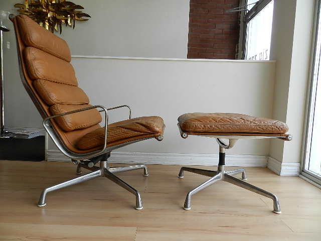 zig zag charles eames lounge chairs and ottoman sold
