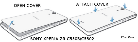 Sony Xperia ZR C5503/C5502 Remove Back Cover Attach Casing