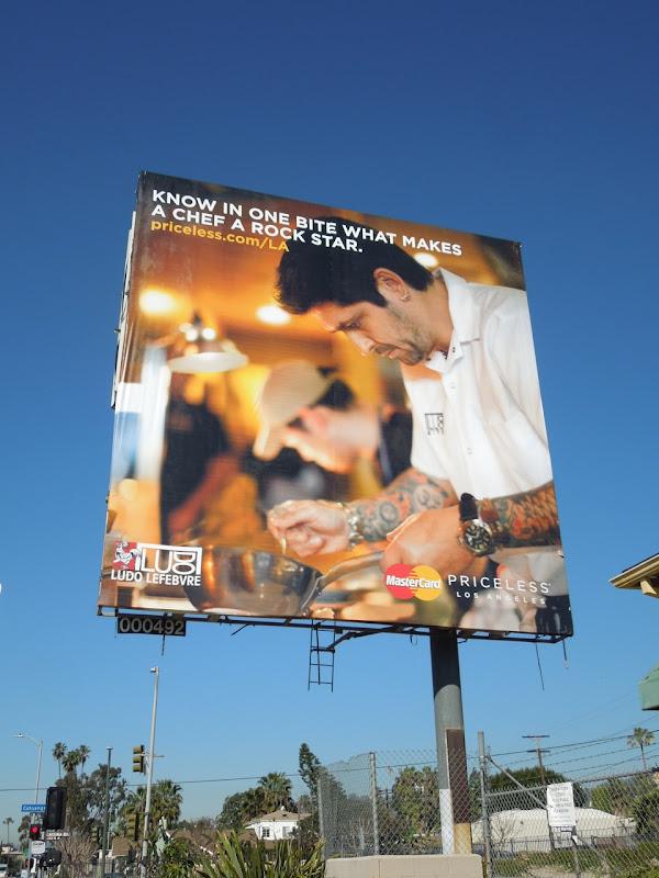 MasterCard Priceless Chef Ludo Lefebvre billboard