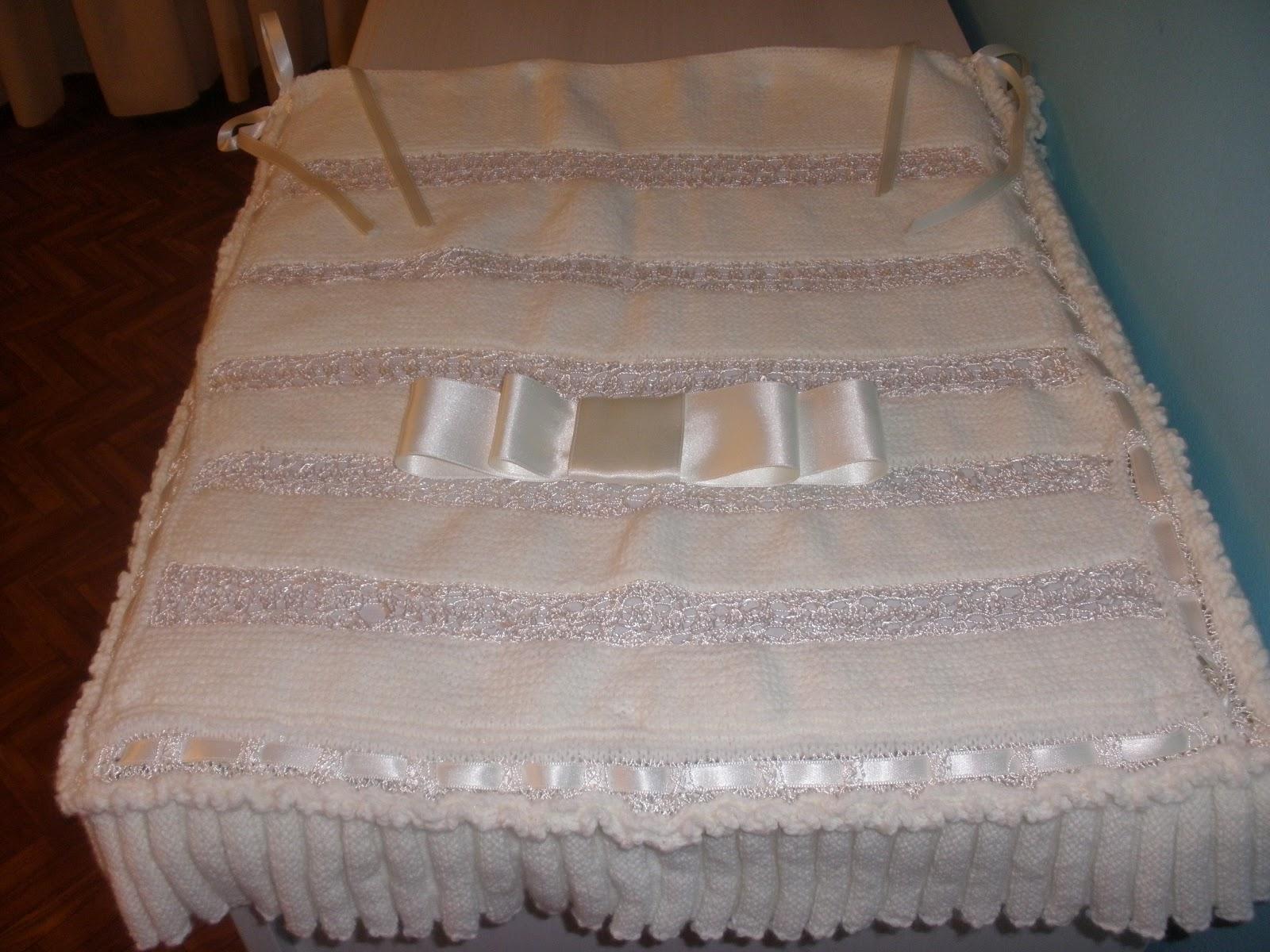 Calcetando sue os colcha para cochecito for Colchas de punto de lana