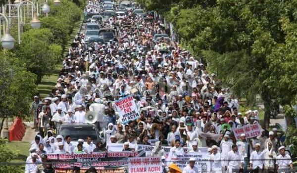 Massa Seluruh Aceh Aswaja Padati Kota Banda Aceh