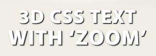 cara membuat efek 3D text
