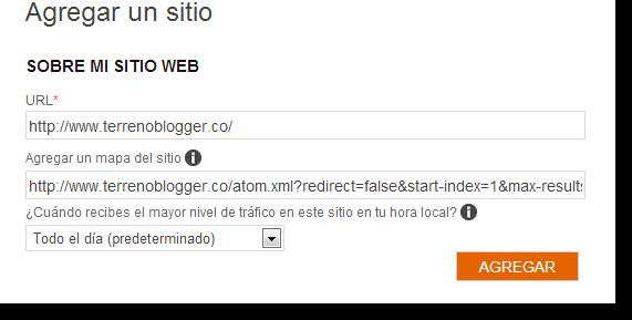 Agregar sitio a Bing y Yahoo
