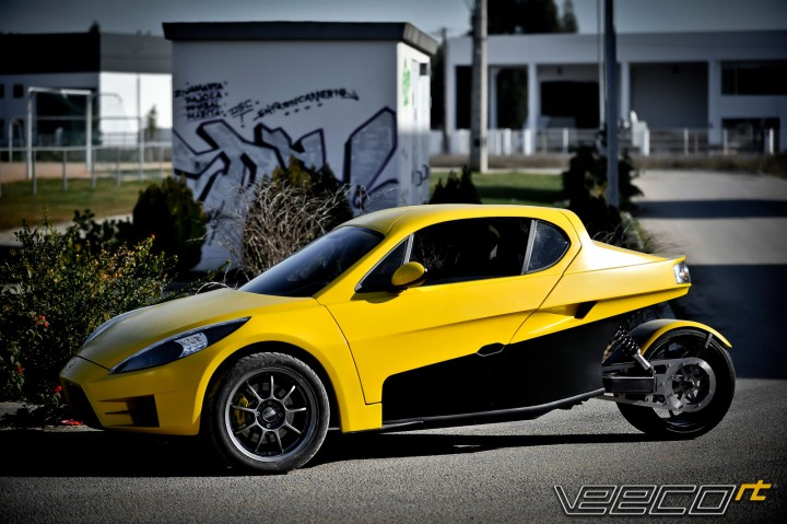 Concept Bike  Veeco RT Electric Trike Yellow Biker