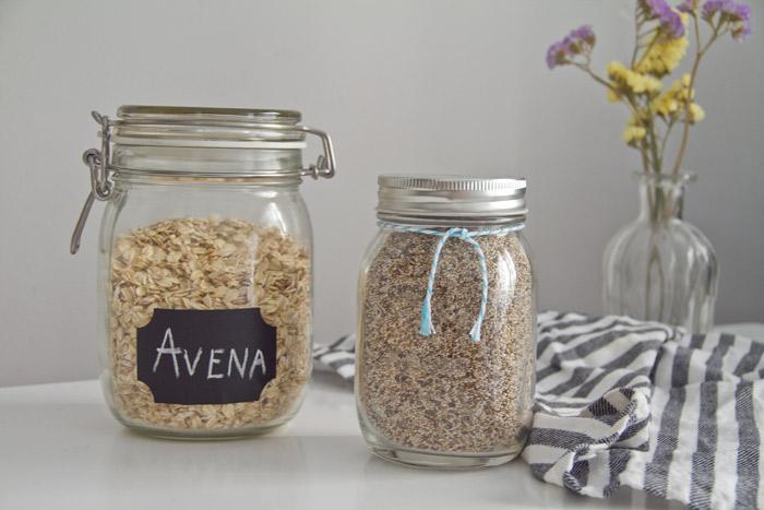 Overnight oats. Avena y chía.