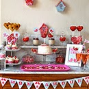 Sweet table Saint-Valentin Love birds