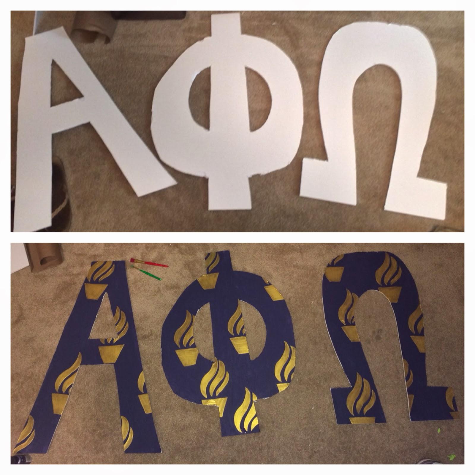 DIY Greek Letters