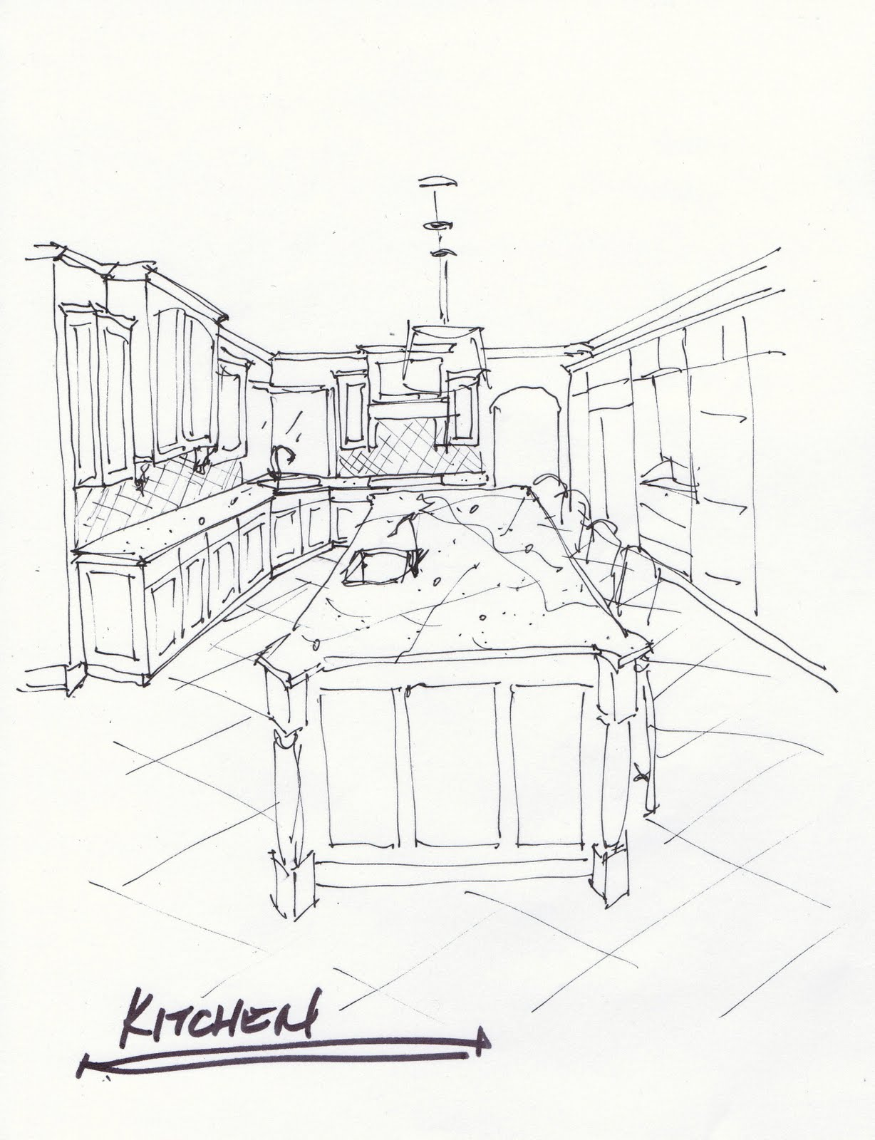 Sketch Kitchen CabiDesigns