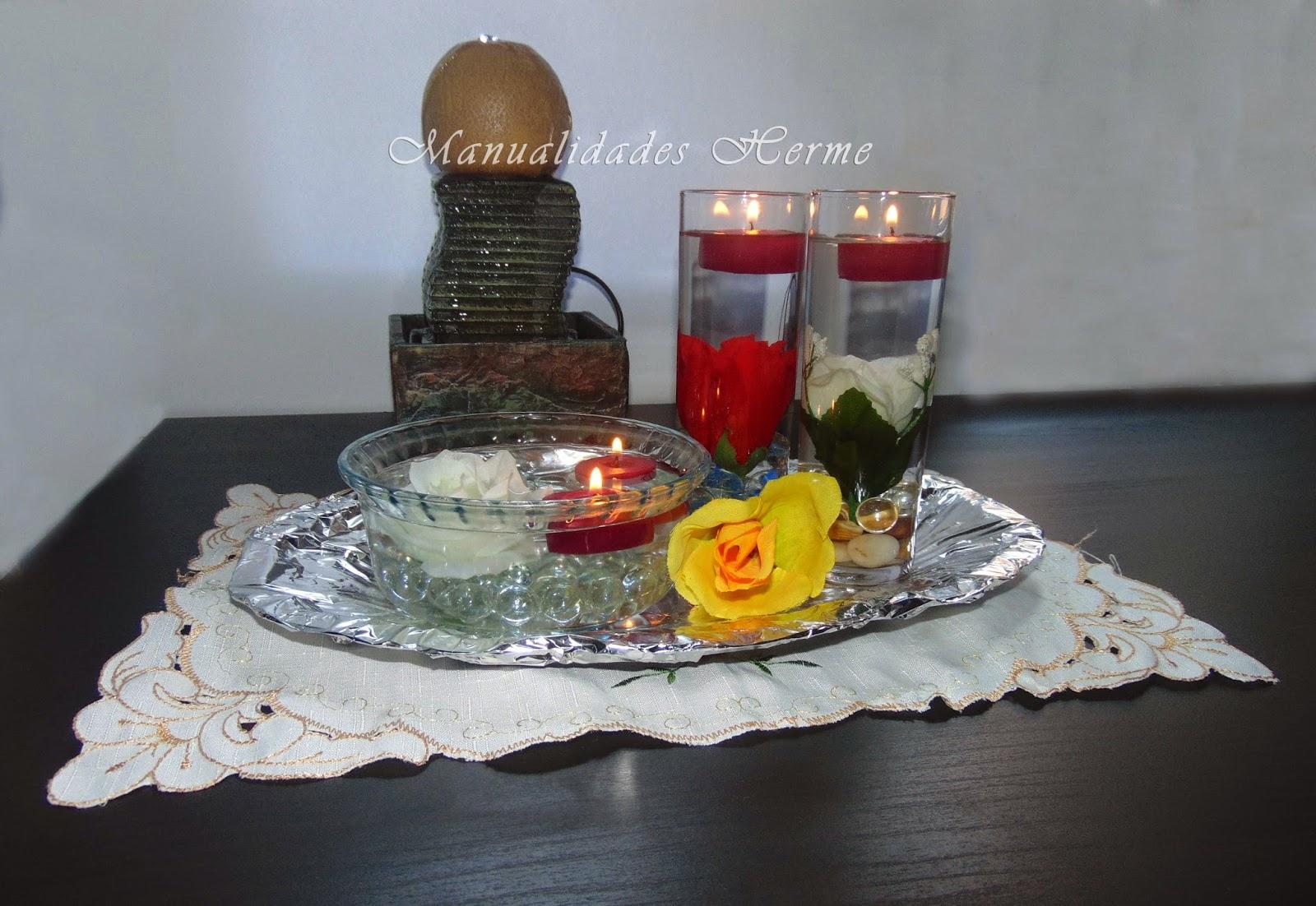 Imagenes de centros de mesa con flores artificiales for Centros de mesa artificiales