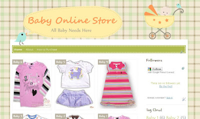 Baby online store blogger template suitable for your baby kidstodler