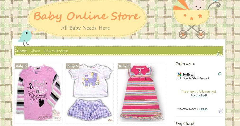baby online store blogger template info loker kota 2016