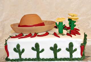 Beautiful Fiesta Birthday Cake