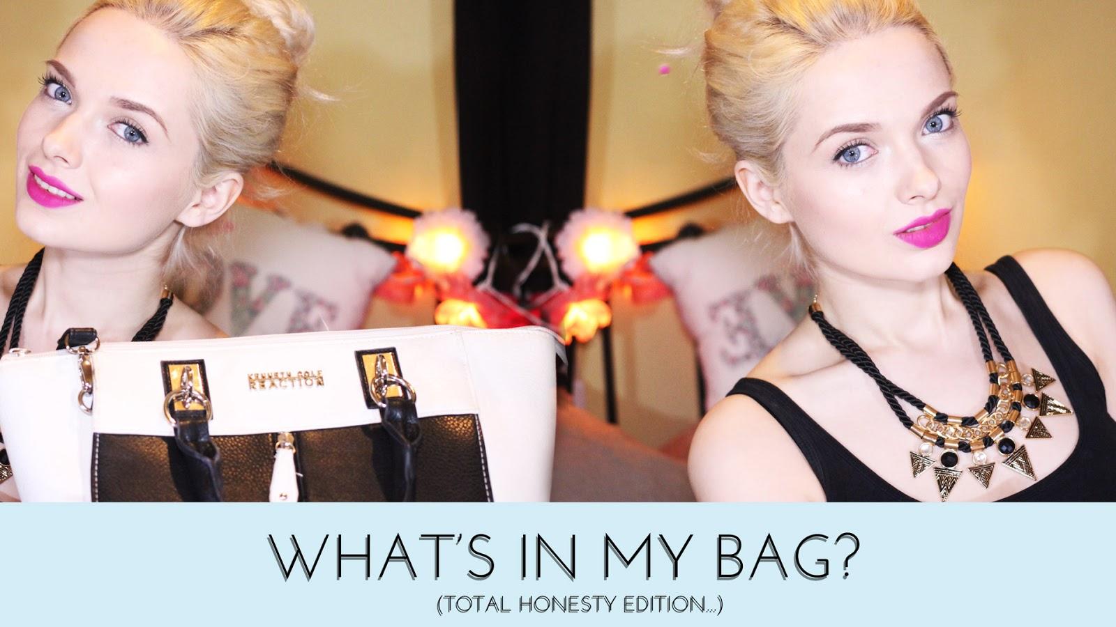 What's In My Bag, Mypaleskin, Pale Skin, Blog, VLOG