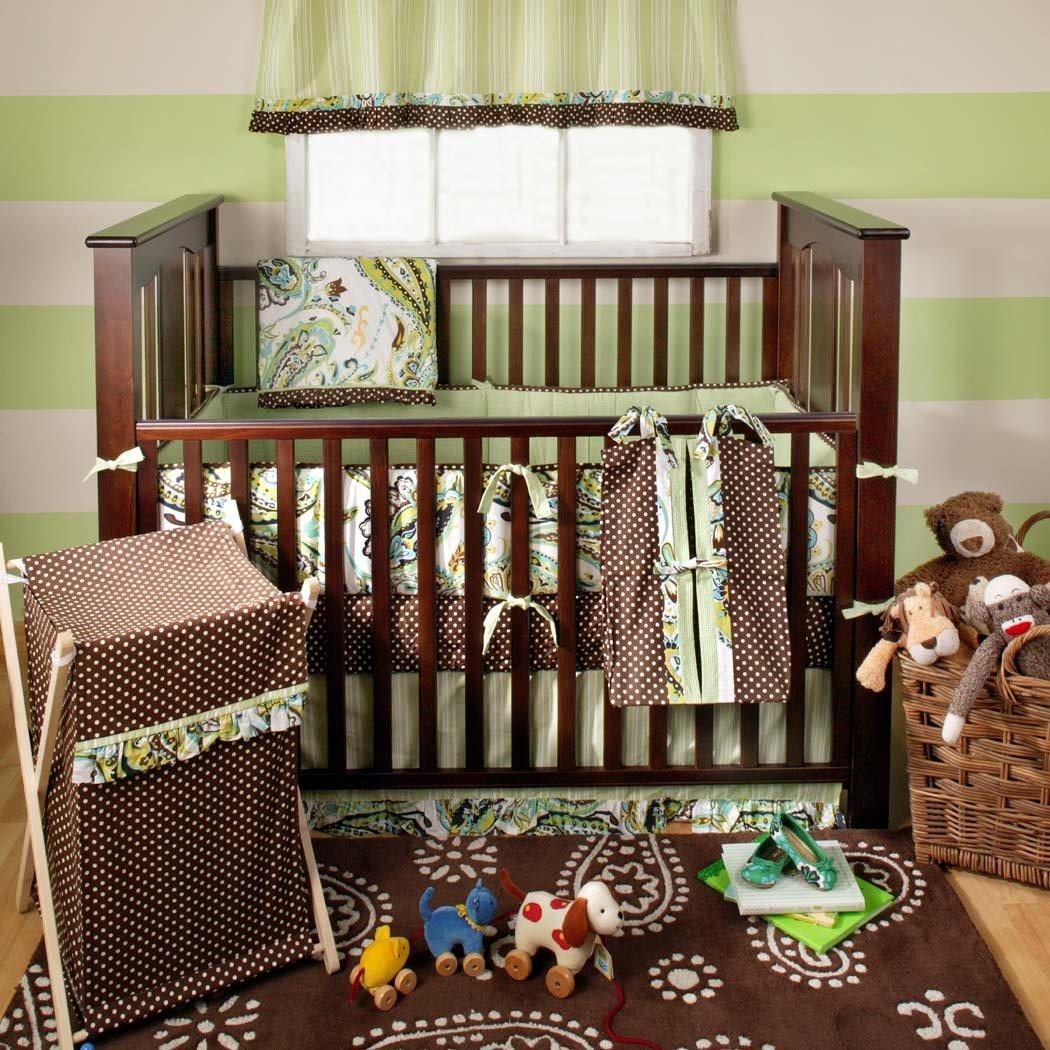 My Baby Sam Paisley Splash Crib Bedding Set