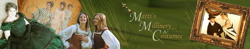 Matti's Millinery & Costumes Blog