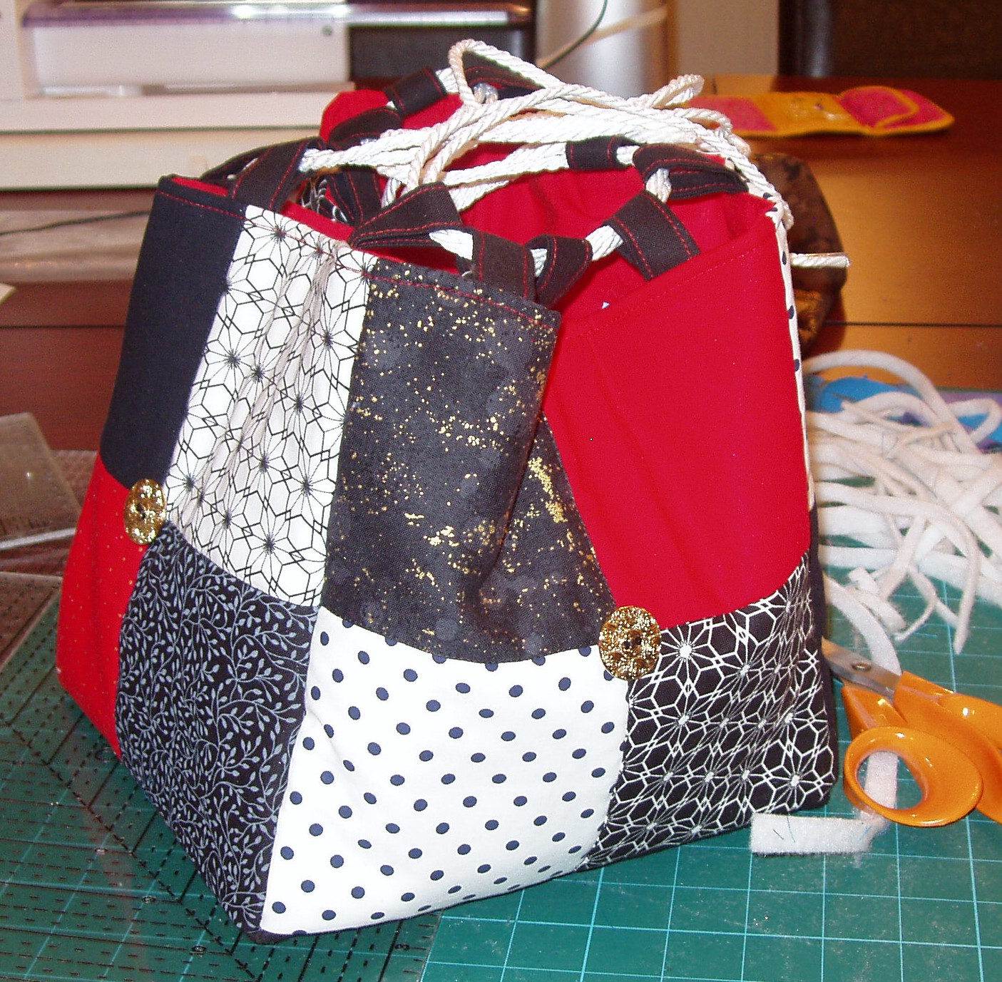Komebukuro Bags Based On The Ones In Anese Quilt Inspirations Made Yesterday Evening At Our Work Royal Some Awaiting Drawstrings Pics