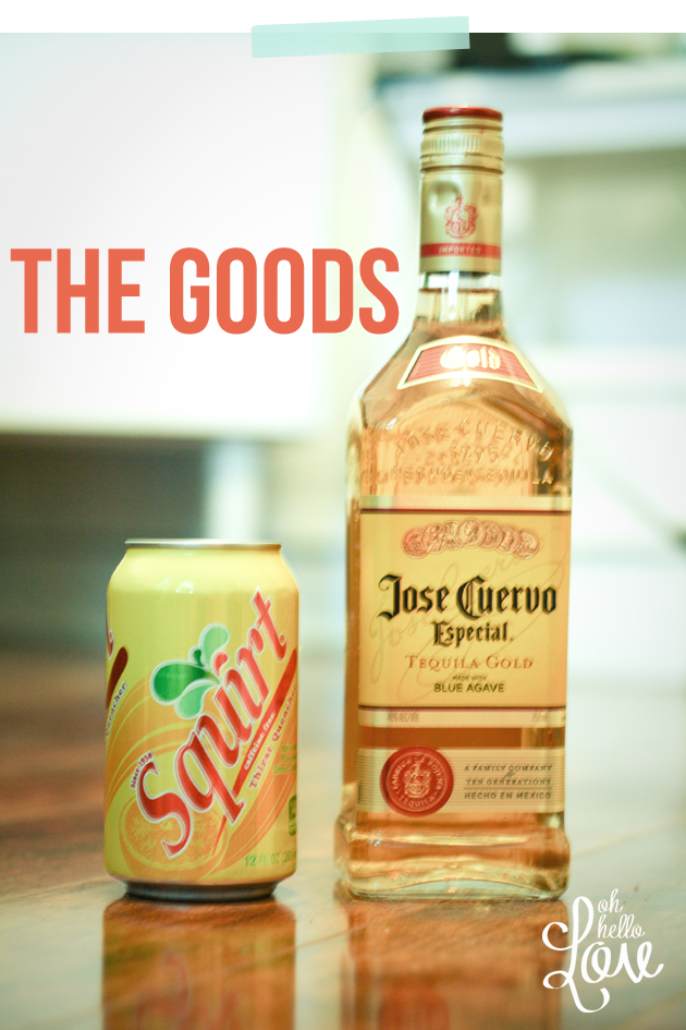 tequila with squirt Fresh squeezed citrus (orange, grapefruit and lime) juice, mixed with tequila and  grapefruit soda, make this the perfect summer sipper!