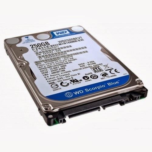 ổ cứng laptop western 250gb ata 5400rpm cũ