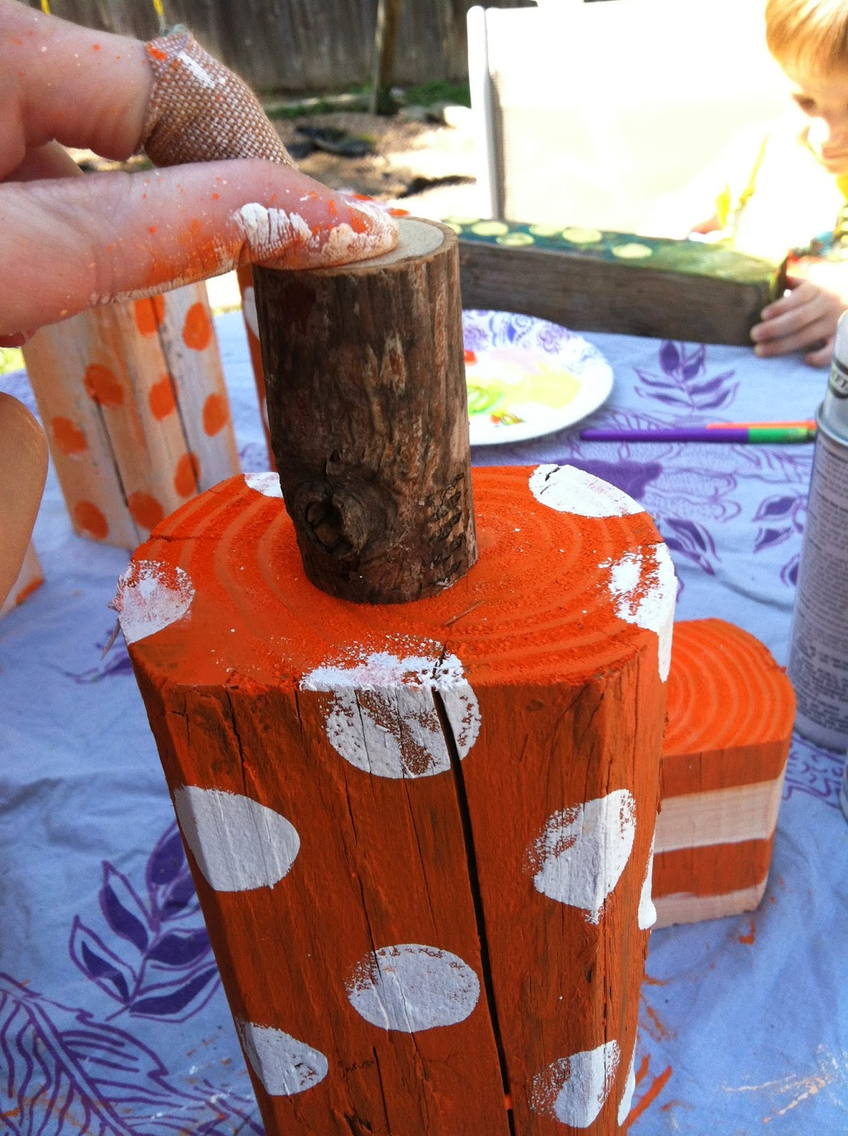 DIY Primitive Wooden Pumpkins Reclaimed Wood
