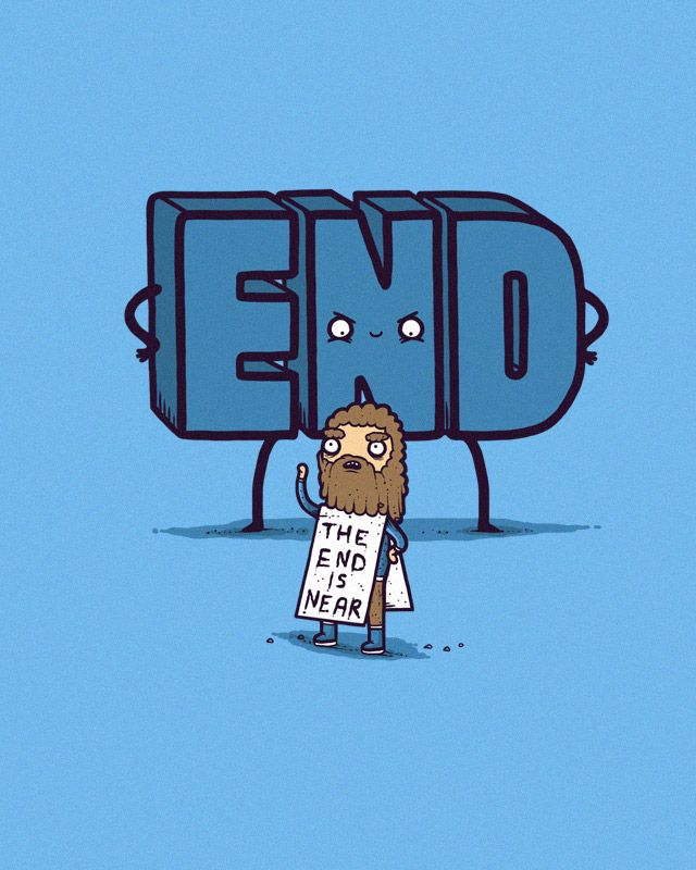 The End is Near Jesus cartoon picture