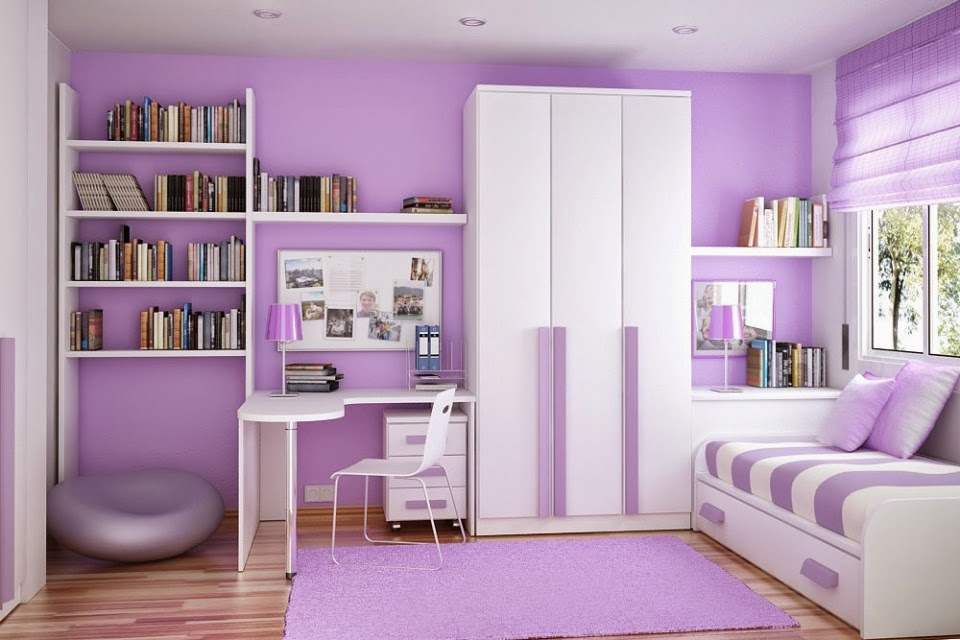purple bedroom design idea