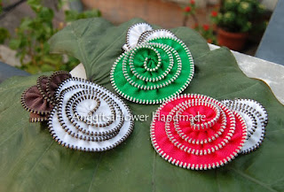 zipper apple brooch