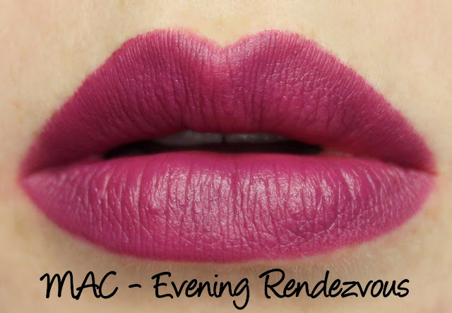 MAC Magic of the Night - Evening Rendezvous Lipstick Swatches & Review