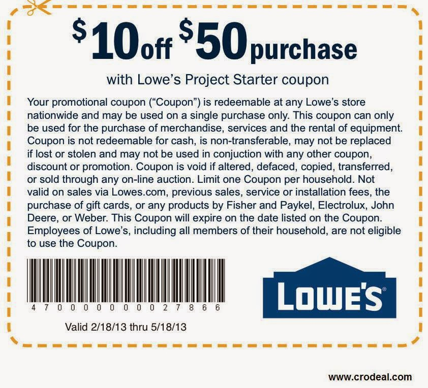 Lowes discount coupon code