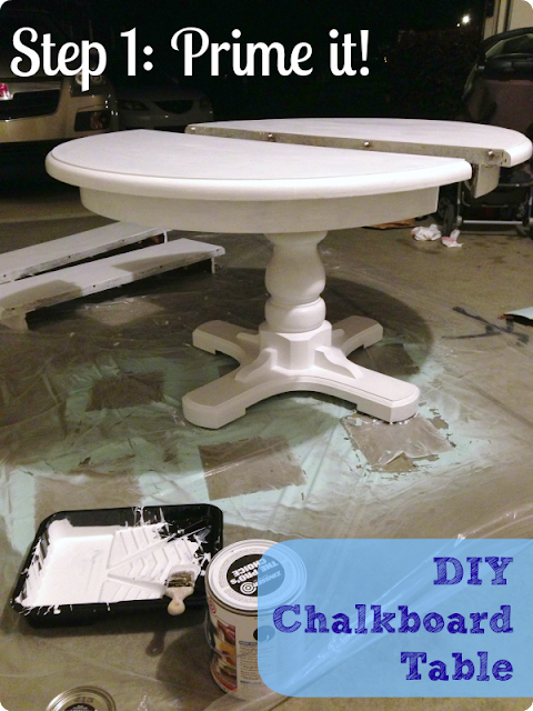 DIY painted chalkboard kitchen table