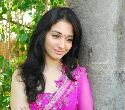 Fair and lovely Tamanna photos in pink saree